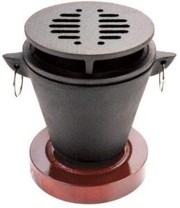 chefmaster cast iron mini hibachi grill