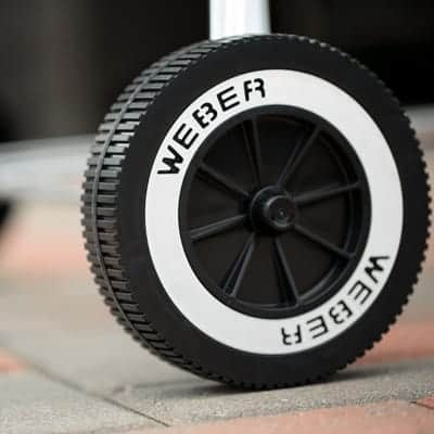 grill with durable wheels