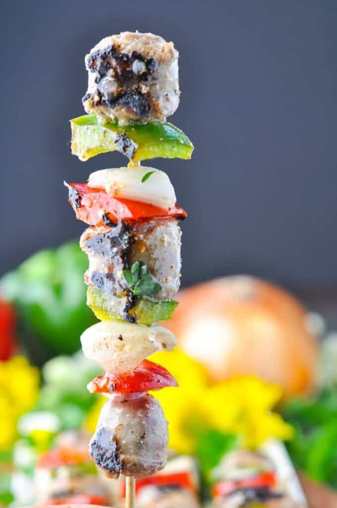 grilled italian sausage kabobs